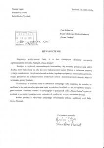 Oświadczenie radnych