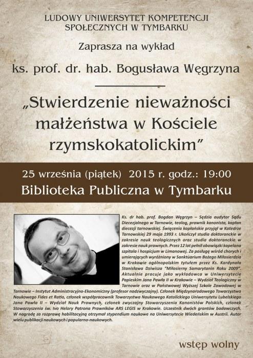 Wykład ks.Bogdana Węgrzyna