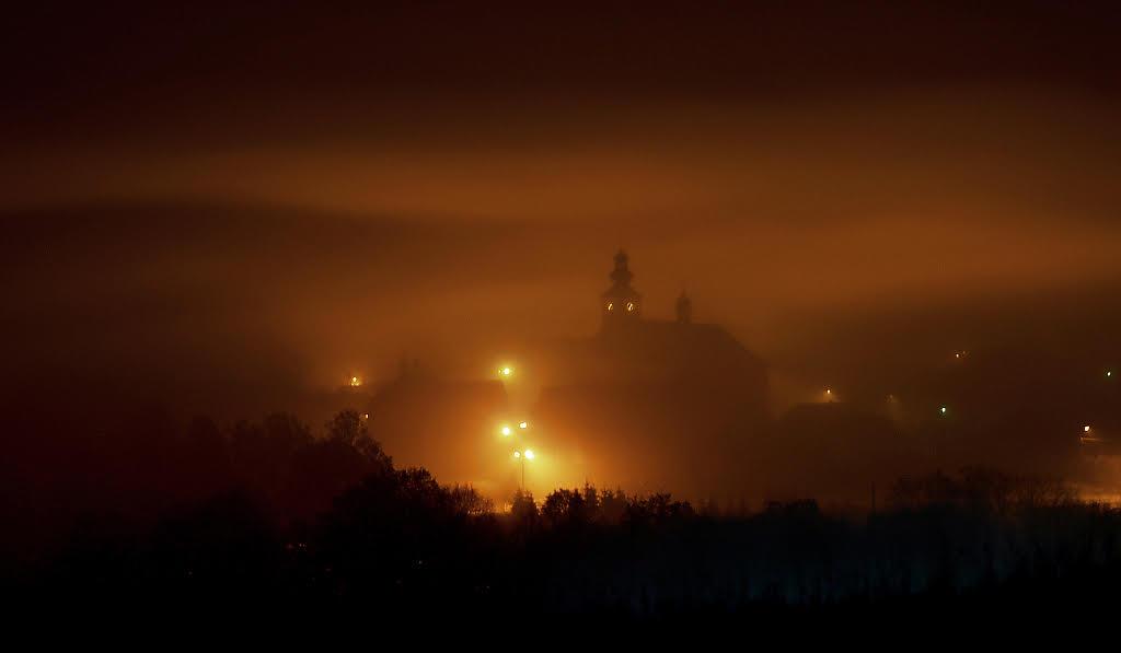 Tymbark w mgle