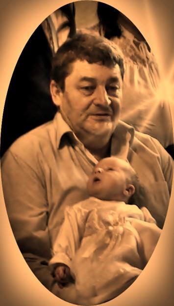 Józef Puchała Stary Gazda z wnuczką