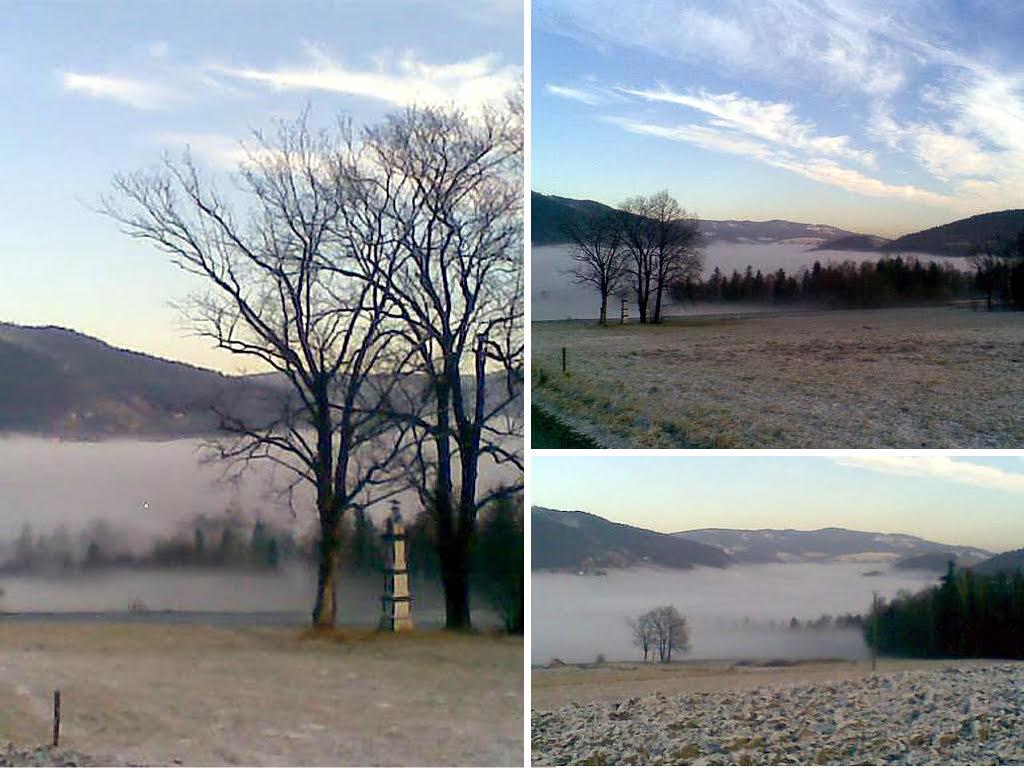 mgła nad Tymbarkiem