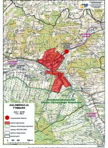 mapa Tymbark - aglomeracja