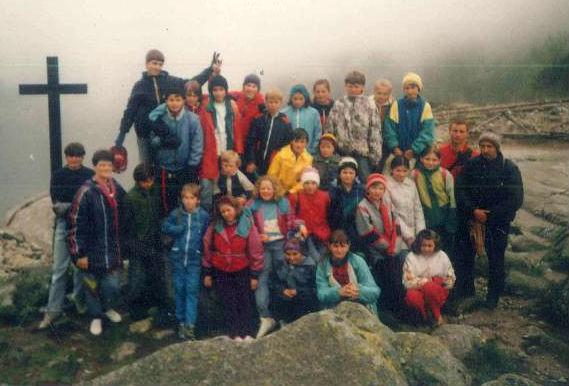 Wycieczka szkolna, Tatry, Nad Czarnym Stawem, 1994 rok