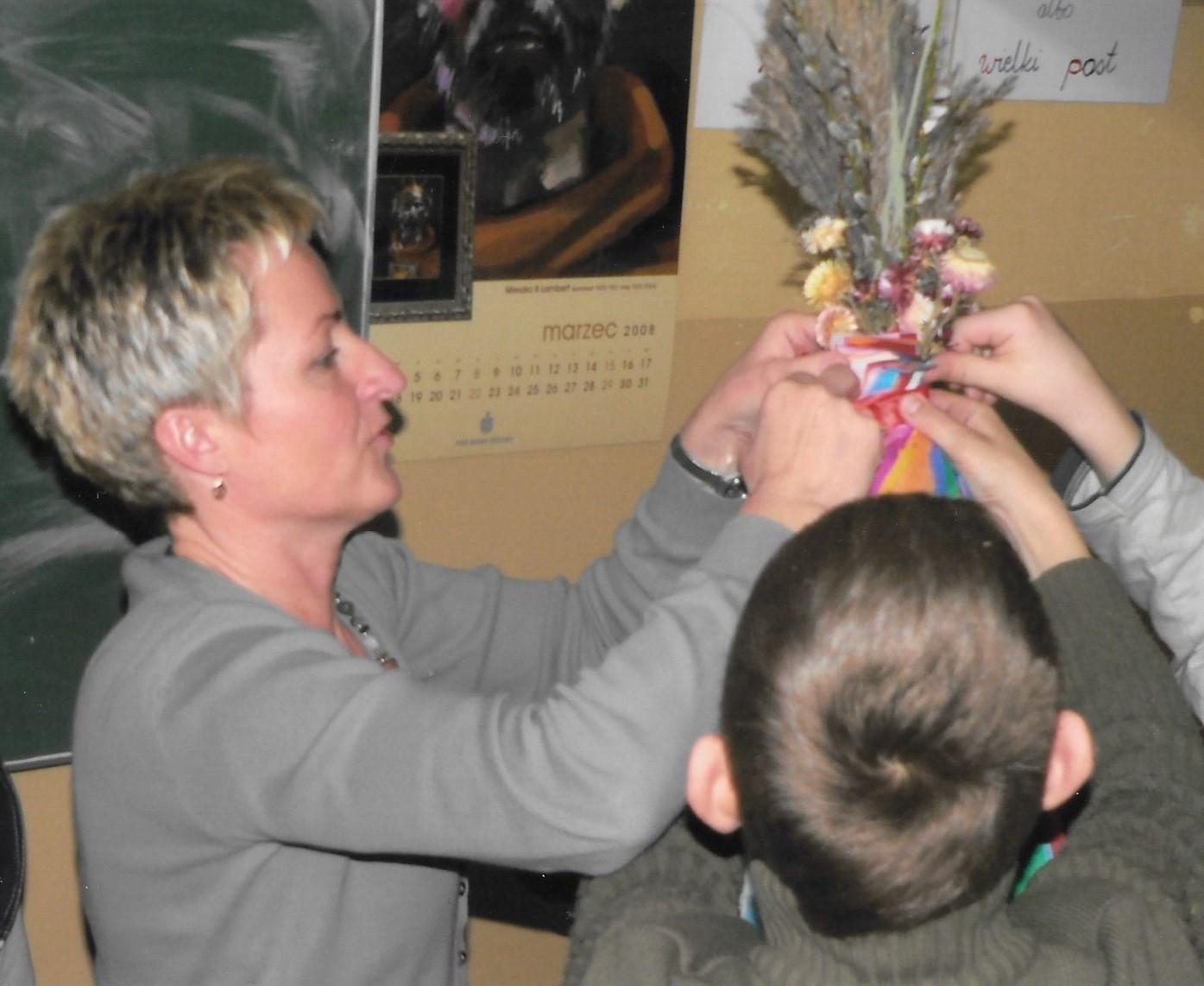Przygotowywanie palmy do konkursu regionalnego, 2008 rok