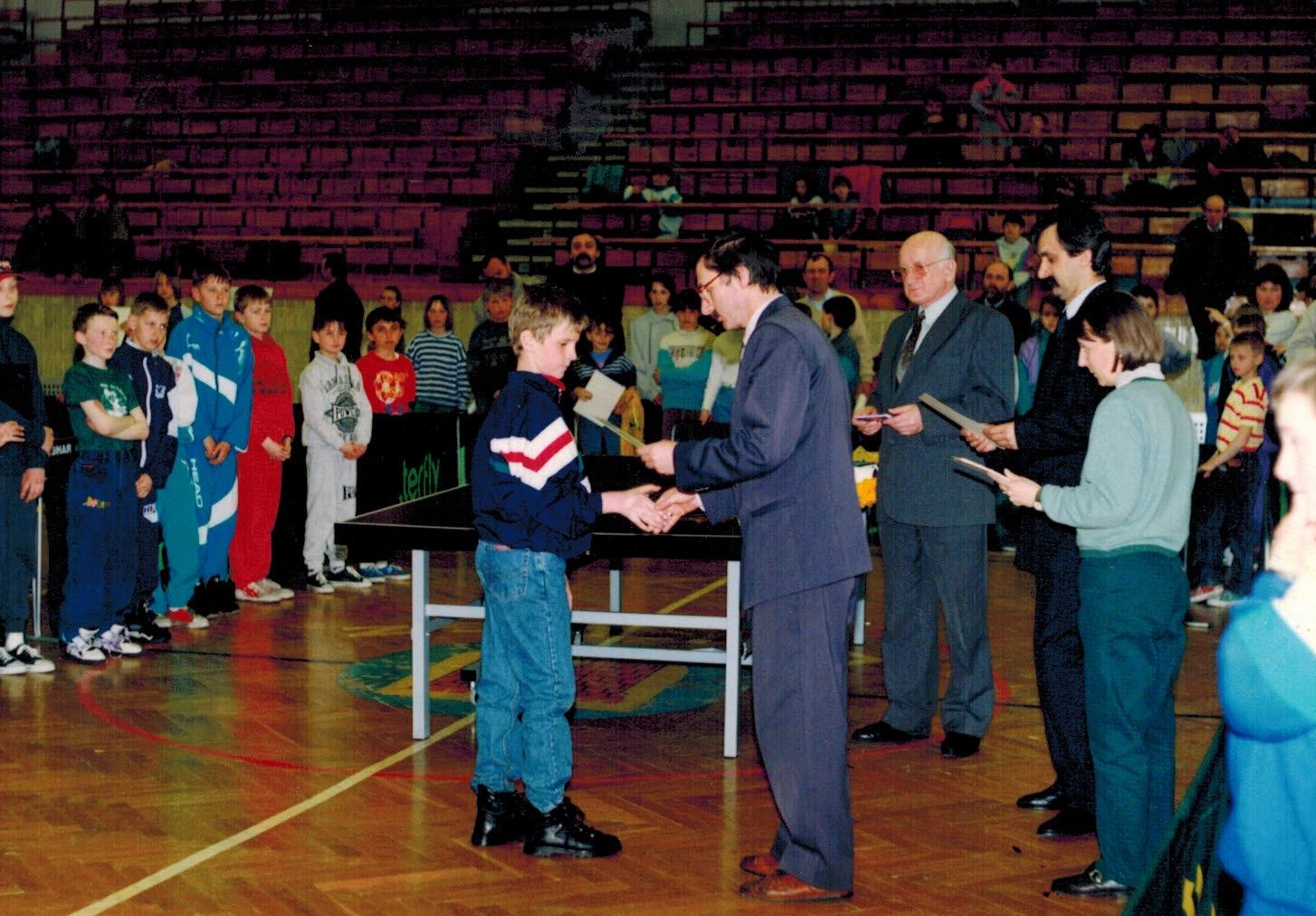 Mistrzostwa Polski w Tenisie Stołowym - Olkusz 1996