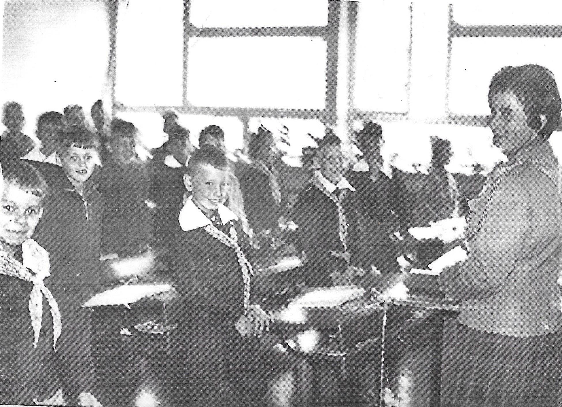 Klasa I z wychowawczynią  Anną Skawińską , 1967