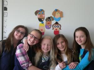 Dziewczęta biorące udział w projekcie (2015)