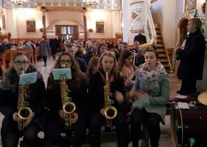 Koncert Tymbarskiego Tonu w tymbarskim kościele - 22.01.2017