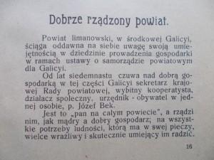 22) GALICYA - POWIAT LIMANOWSKI.